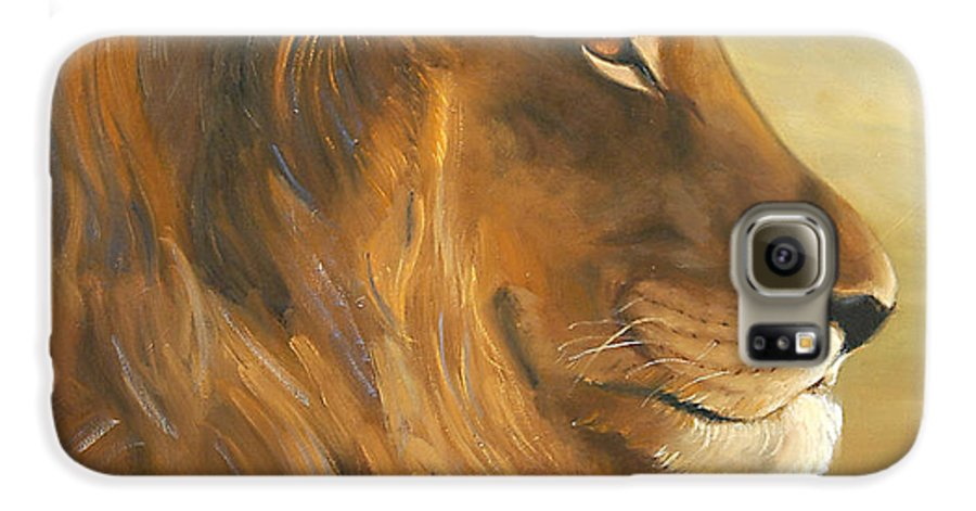 Painting Galaxy S6 Case featuring the painting African King by Greg Neal