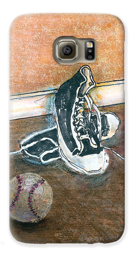 Tennis Shoes Galaxy S6 Case featuring the mixed media After The Game by Arline Wagner