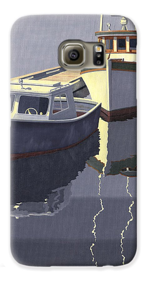 Boat Galaxy S6 Case featuring the painting After The Rain by Gary Giacomelli