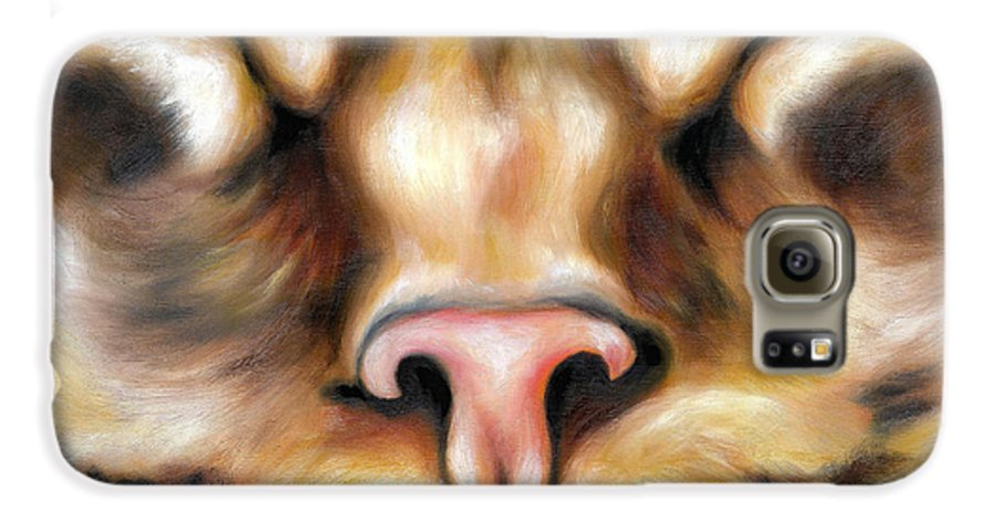 Cat Galaxy S6 Case featuring the painting Afternoon by Hiroko Sakai