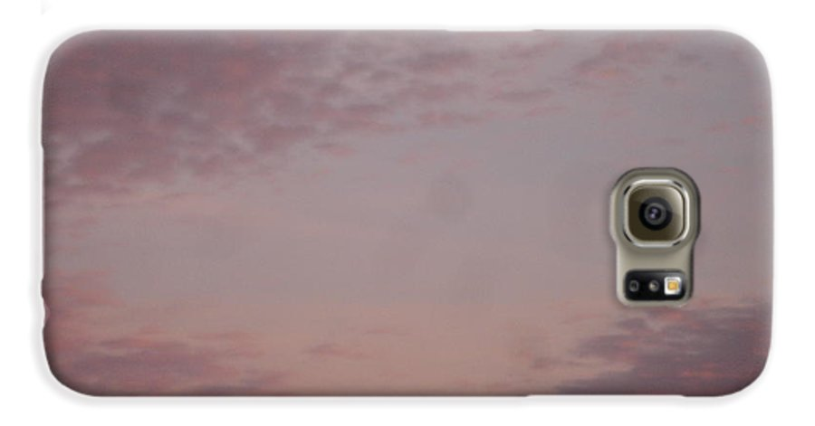 Skyscape Galaxy S6 Case featuring the painting Afternoon Sky by Roger Cummiskey