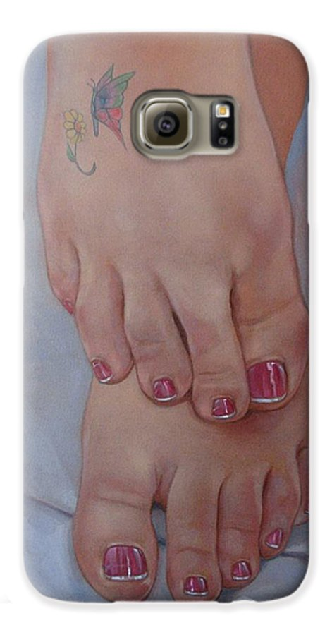Pretty Feet Galaxy S6 Case featuring the painting Aimee by Jerrold Carton