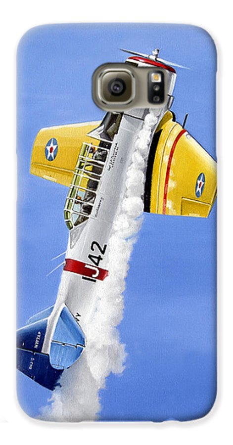 Military Galaxy S6 Case featuring the painting Air Show by Marc Stewart