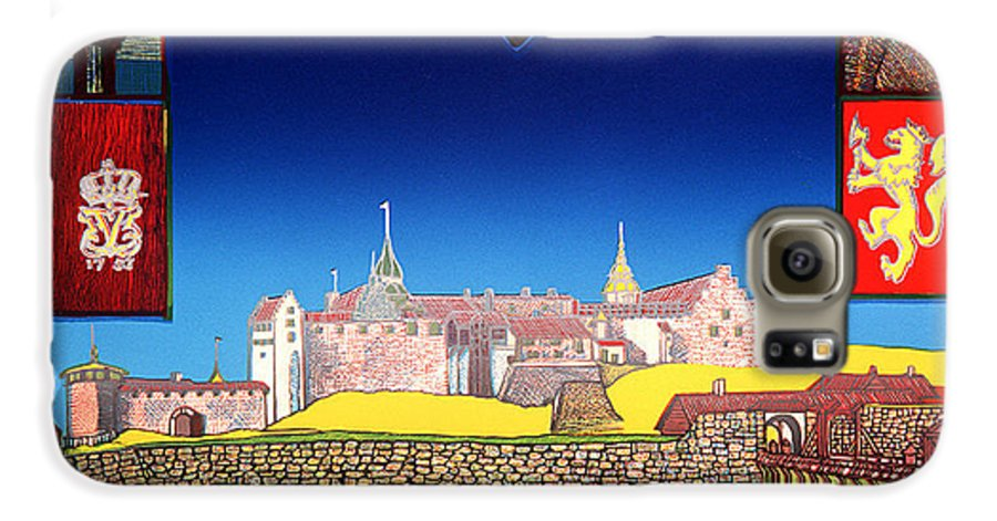 Historic Galaxy S6 Case featuring the mixed media Akershus Festning -akershusfortress by Jarle Rosseland
