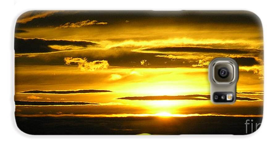 Sunset Galaxy S6 Case featuring the photograph Alaskan Sunset by Louise Magno