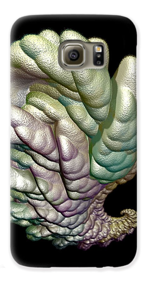 Fractal Galaxy S6 Case featuring the digital art Alien Brain by Frederic Durville