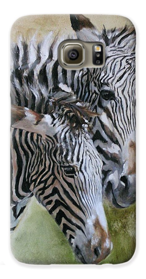 Wildlife Art Galaxy S6 Case featuring the painting Almost Grown by Debra Jones