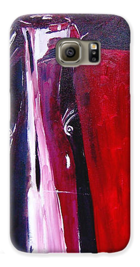 Figurative Galaxy S6 Case featuring the painting Almost Still Life by Olga Alexeeva