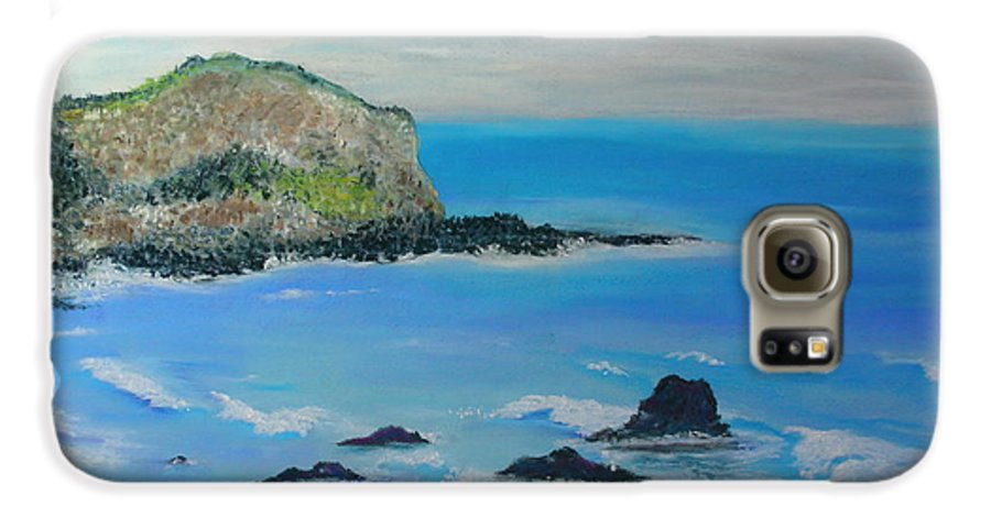 Hawaii Galaxy S6 Case featuring the painting Aloha by Melinda Etzold