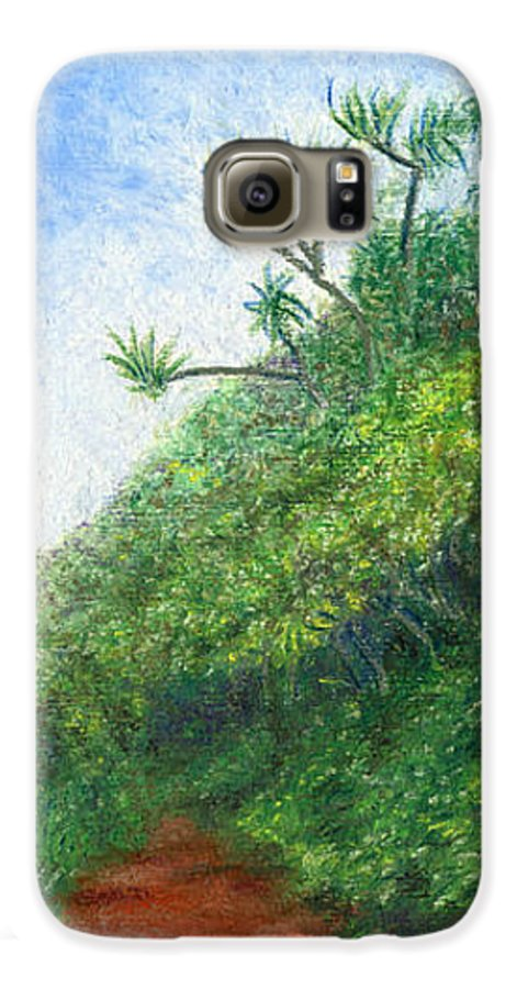Coastal Decor Galaxy S6 Case featuring the painting Along The Trail by Kenneth Grzesik
