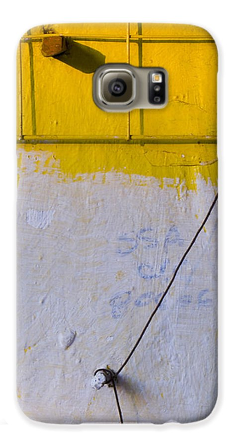 Abstract Galaxy S6 Case featuring the photograph Amarillo by Skip Hunt
