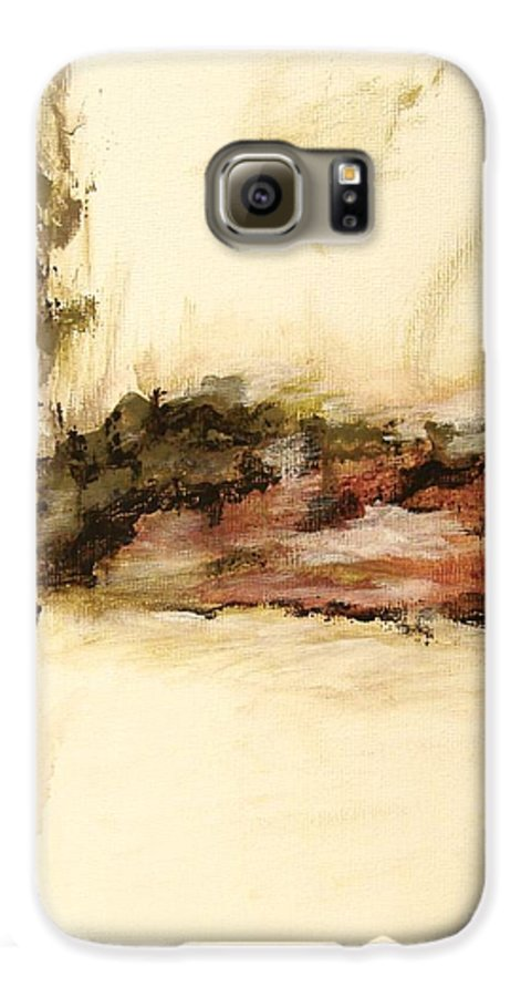 Abstract Galaxy S6 Case featuring the painting Ambiguous by Itaya Lightbourne