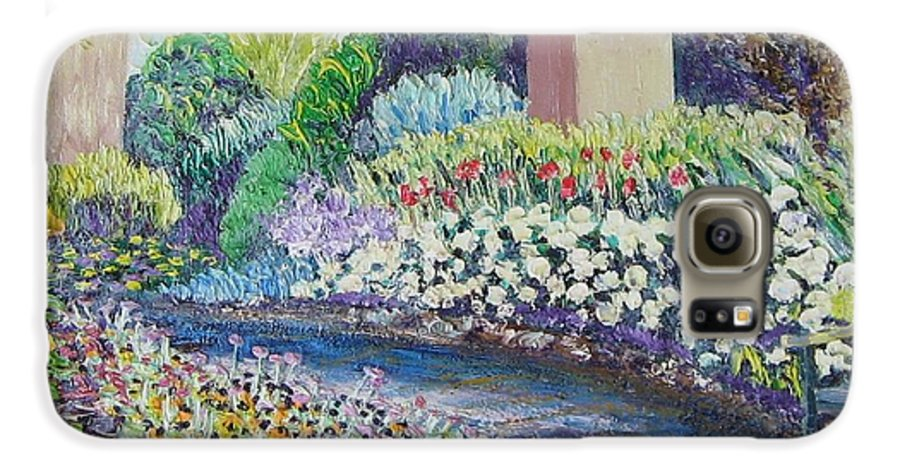 Flowers Galaxy S6 Case featuring the painting Amelia Park Pathway by Richard Nowak
