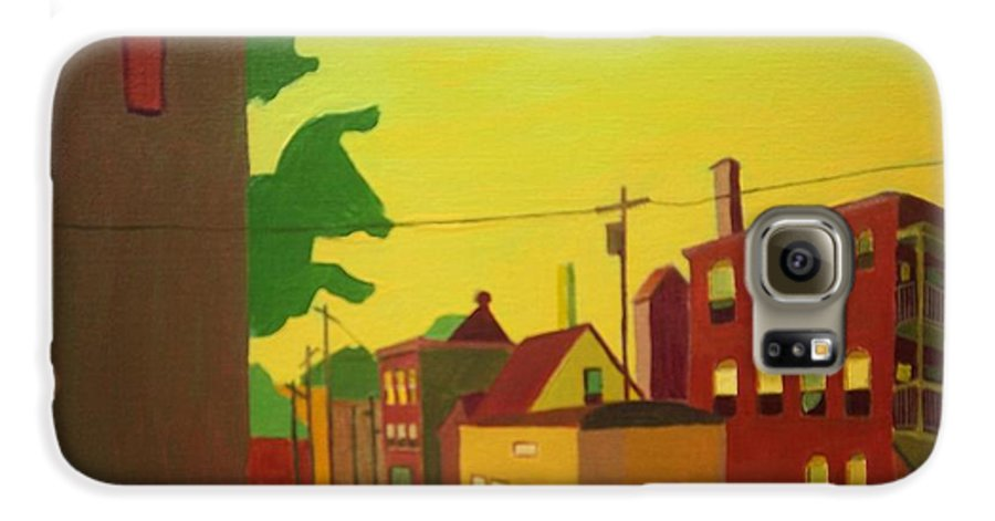 Jamaica Plain Galaxy S6 Case featuring the painting Amory Street Jamaica Plain by Debra Bretton Robinson