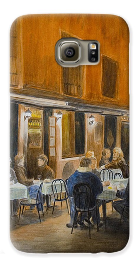 Venice Galaxy S6 Case featuring the painting An Autumn by Nik Helbig
