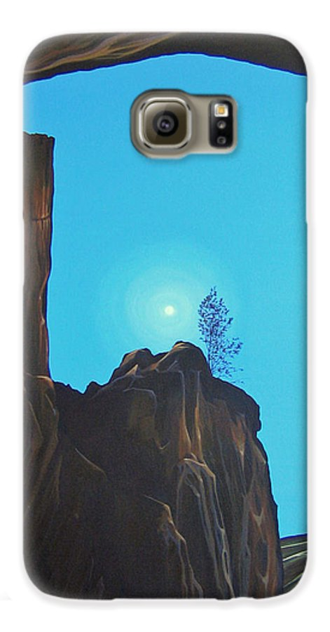 New Mexico Galaxy S6 Case featuring the painting Anasazi Dreams by Hunter Jay