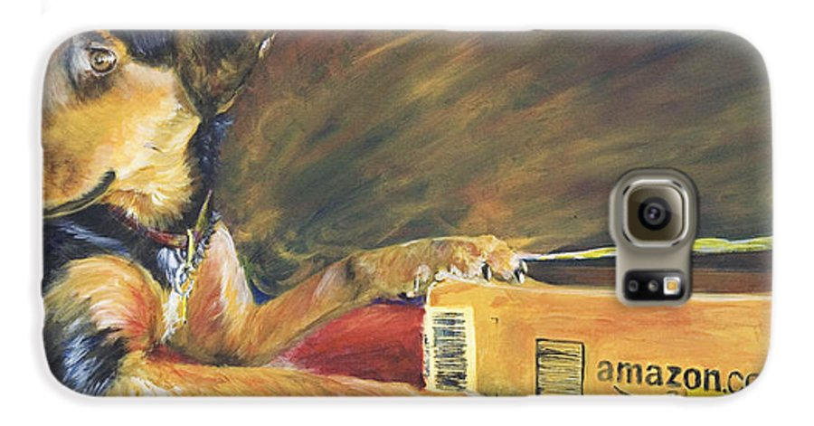 Dog Galaxy S6 Case featuring the painting And Youre Done by Nik Helbig
