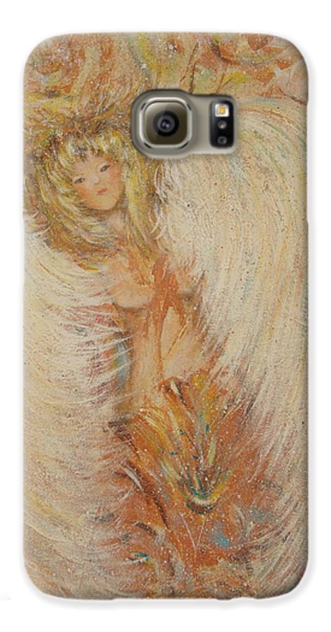 Angel Galaxy S6 Case featuring the painting Angel Loves You by Natalie Holland