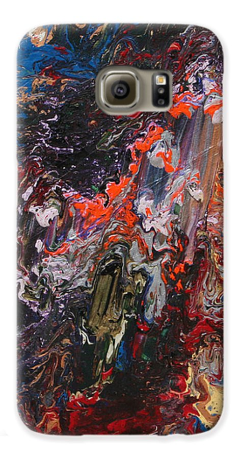 Fusionart Galaxy S6 Case featuring the painting Angel Rising by Ralph White