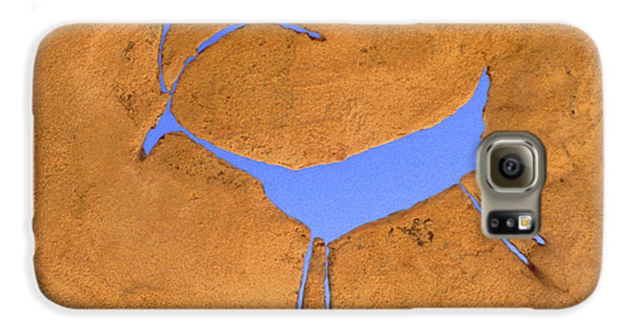 Anasazi Galaxy S6 Case featuring the photograph Antelope Petroglyph by Jerry McElroy