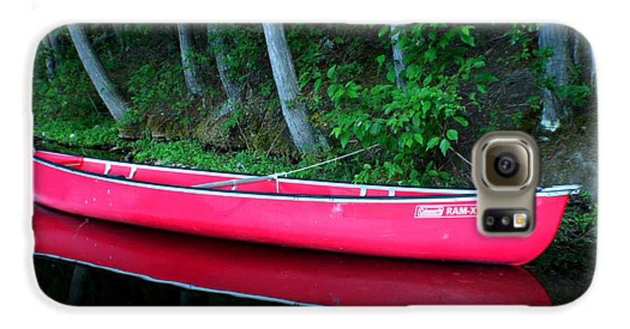 Canoe Galaxy S6 Case featuring the photograph Anticipation by Idaho Scenic Images Linda Lantzy