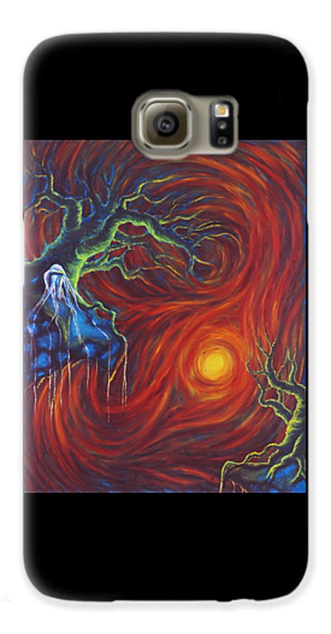 Tree Paintings Galaxy S6 Case featuring the painting Anxiety by Jennifer McDuffie