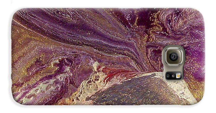 Abstract Galaxy S6 Case featuring the painting Appassionata by Patrick Mock