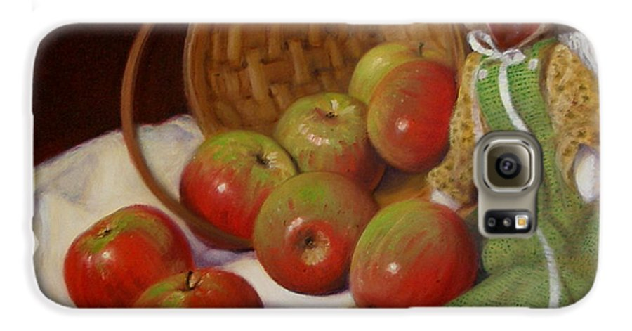 Realism Galaxy S6 Case featuring the painting Apple Annie by Donelli DiMaria