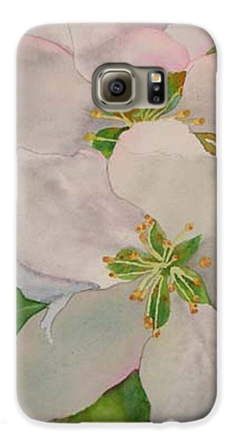 Apple Blossoms Galaxy S6 Case featuring the painting Apple Blossoms by Sharon E Allen