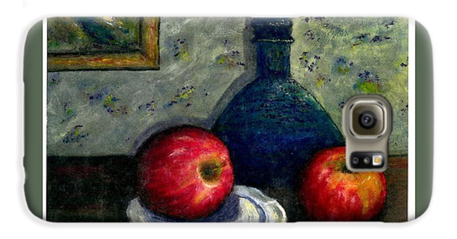 Still Life Galaxy S6 Case featuring the painting Apples And Bottles by Gail Kirtz