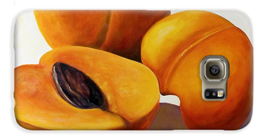 Apricots Galaxy S6 Case featuring the painting Apricots by Shannon Grissom