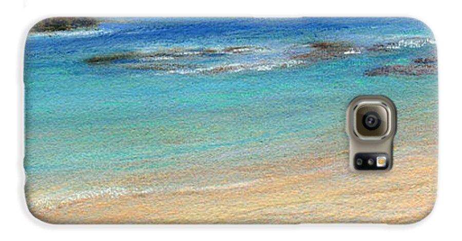 Coastal Decor Galaxy S6 Case featuring the painting Aqua Moloa'a by Kenneth Grzesik