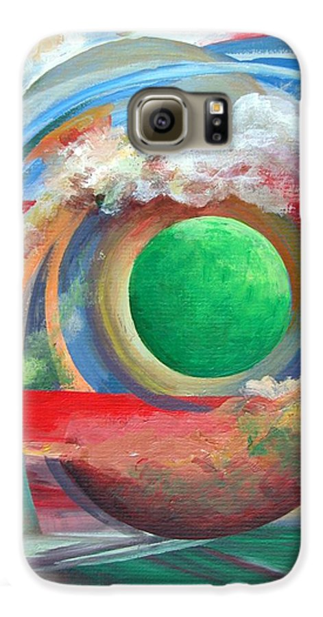 Abstract Galaxy S6 Case featuring the painting Arc by Muriel Dolemieux
