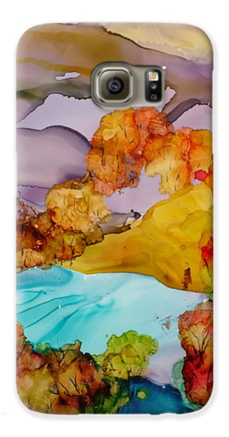 Fall Galaxy S6 Case featuring the mixed media Arcadia by Susan Kubes