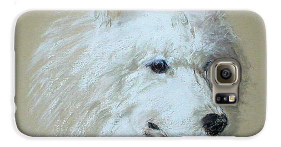 Dog Galaxy S6 Case featuring the drawing Arctic Serenity by Cori Solomon