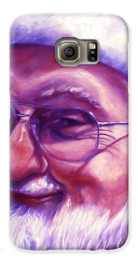 Portrait Galaxy S6 Case featuring the painting Are You Sure You Have Been Nice by Shannon Grissom