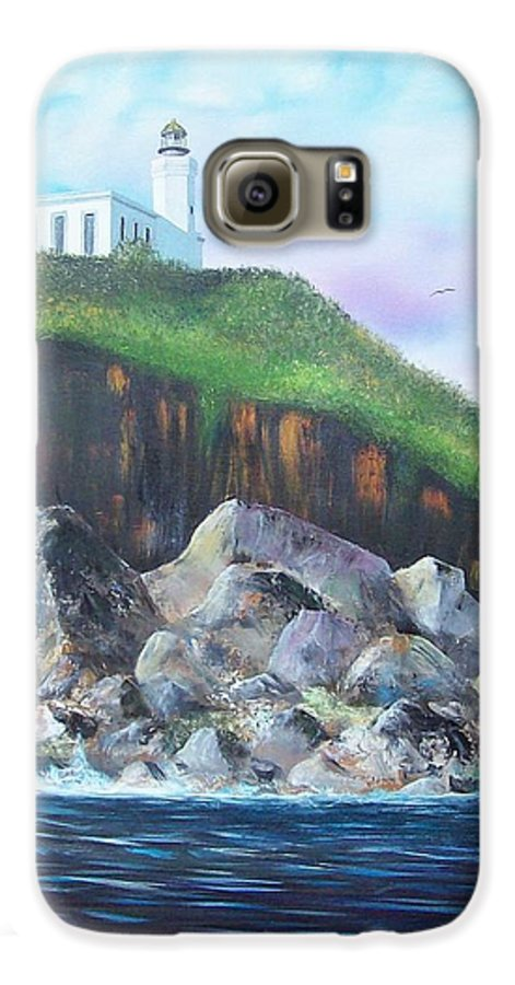 Arecibo Lighthouse Galaxy S6 Case featuring the painting Arecibo Lighthouse by Tony Rodriguez
