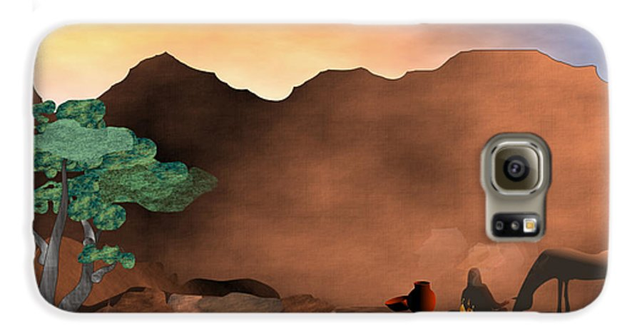 Arizona Galaxy S6 Case featuring the digital art Arizona Sky by Arline Wagner