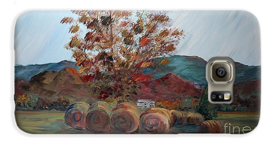 Autumn Galaxy S6 Case featuring the painting Arkansas Autumn by Nadine Rippelmeyer