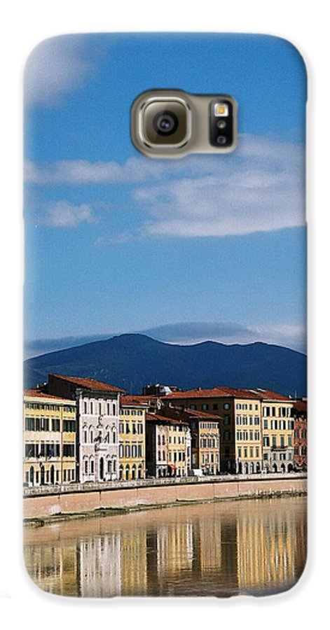 Pisa Galaxy S6 Case featuring the photograph Arno River Pisa Italy by Kathy Schumann