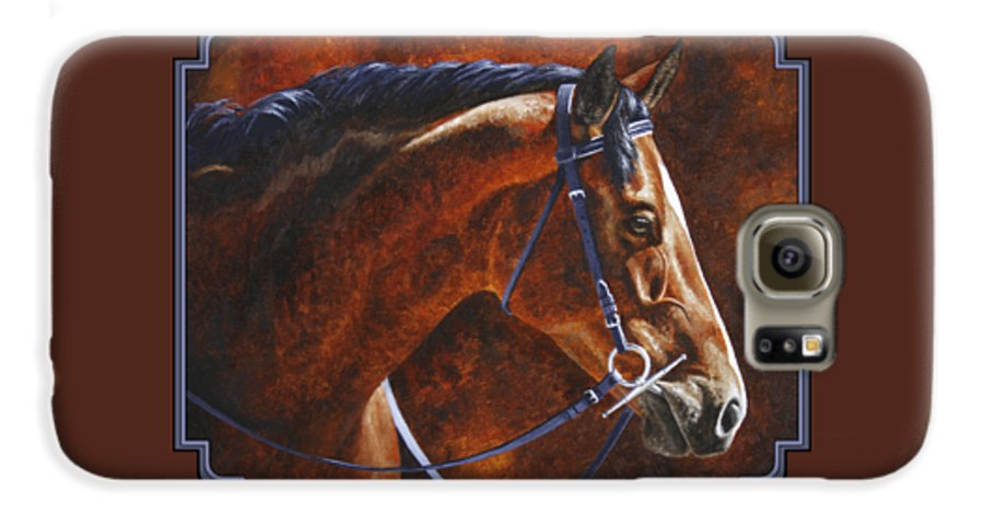 Horse Galaxy S6 Case featuring the painting Horse Painting - Ziggy by Crista Forest