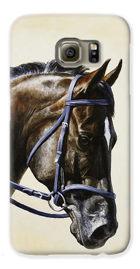 Horse Galaxy S6 Case featuring the painting Dressage Horse - Concentration by Crista Forest