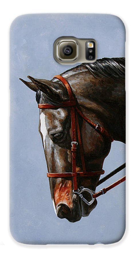 Horse Galaxy S6 Case featuring the painting Horse Painting - Discipline by Crista Forest