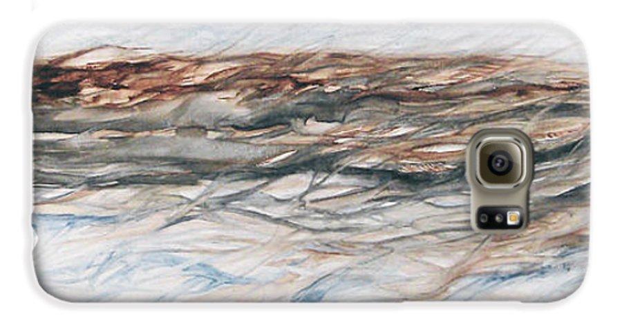 Above Air Artist As Below Blue Brown Darkest Darkestartist Earth Ground Painting Water Watercolor Galaxy S6 Case featuring the painting As Above Below by Darkest Artist