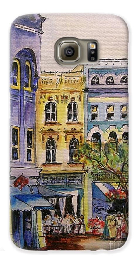 Townhouses Galaxy S6 Case featuring the painting Asheville by Lizzy Forrester