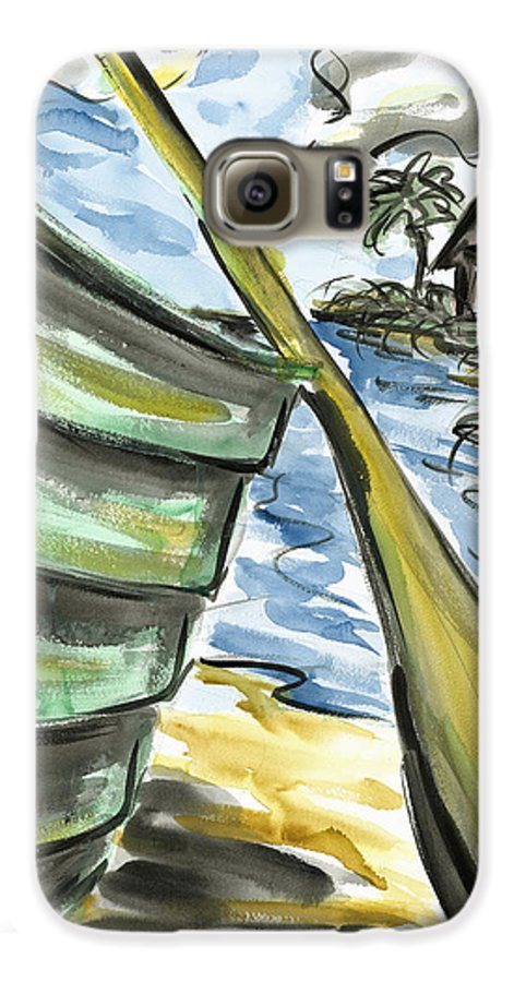 Seascape Galaxy S6 Case featuring the painting Ashore by Robert Joyner
