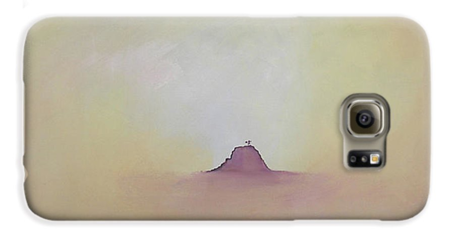 Abstract Galaxy S6 Case featuring the painting At Peace by Bojana Randall