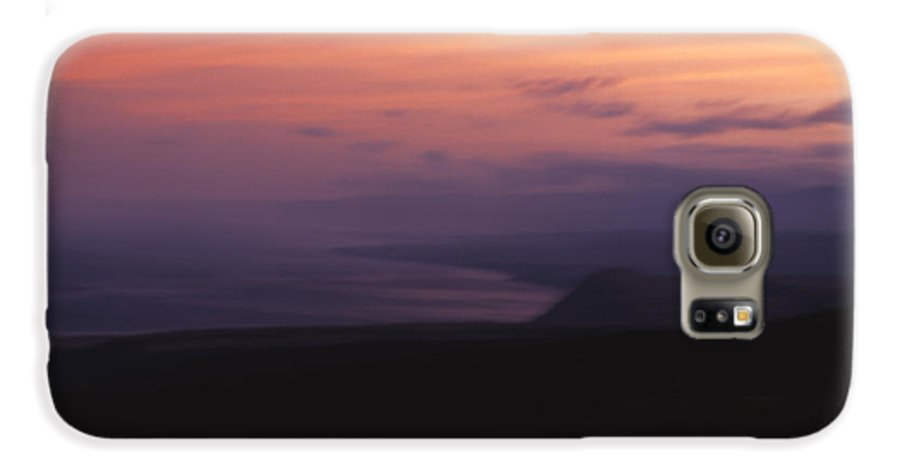 Sunset Galaxy S6 Case featuring the photograph At Sundown by Ayesha Lakes