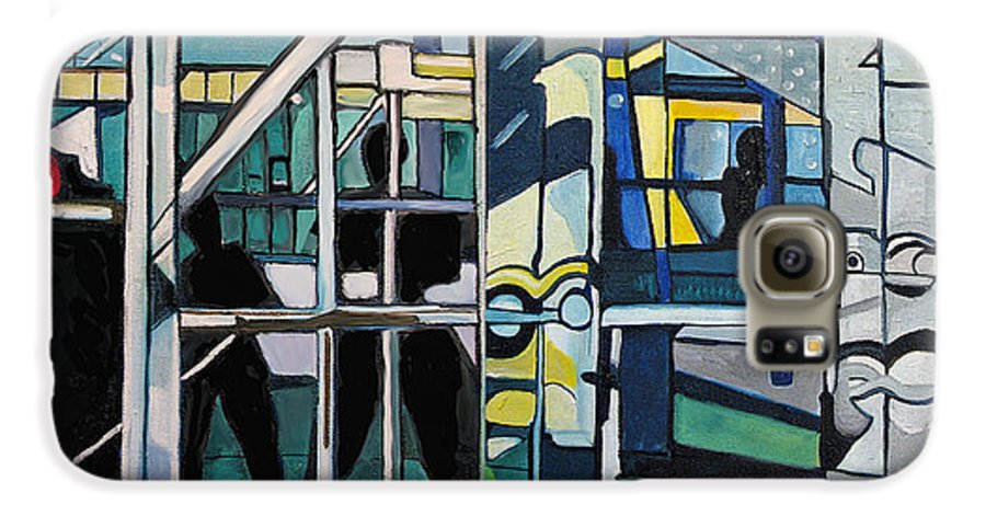 Abstract Galaxy S6 Case featuring the painting Atlanic City Abstract No.1 by Patricia Arroyo