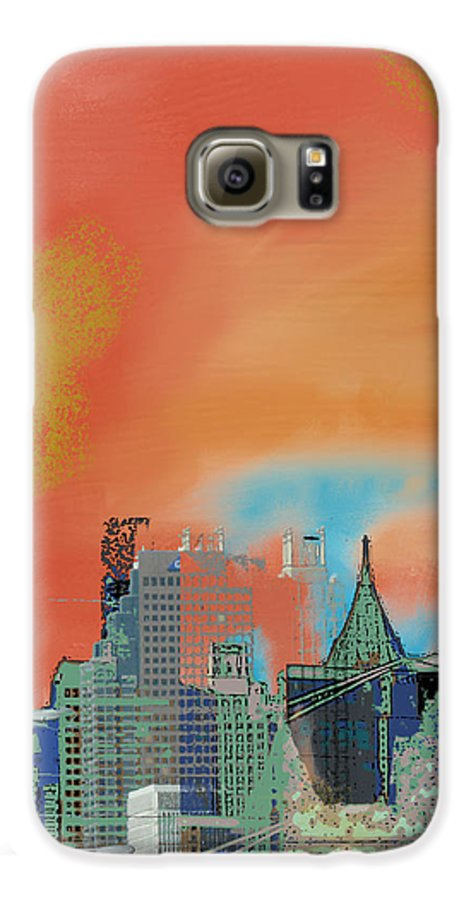 Atlanta Galaxy S6 Case featuring the mixed media Atlanta Abstract After The Tornado by Ann Tracy